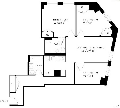 3 Bedrooms, Financial District Rental in NYC for $5,780 - Photo 2