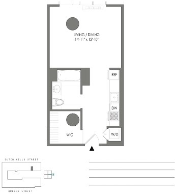 Studio, Long Island City Rental in NYC for $2,562 - Photo 2