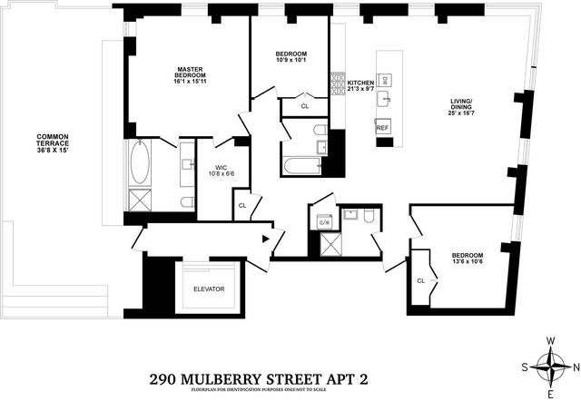 3 Bedrooms, NoLita Rental in NYC for $12,995 - Photo 2
