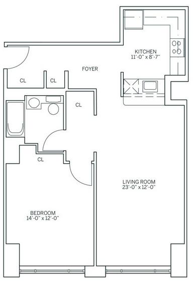 1 Bedroom, Newport Rental in NYC for $2,634 - Photo 2