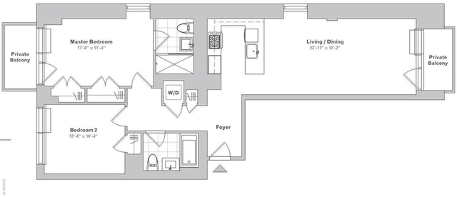 2 Bedrooms, Long Island City Rental in NYC for $4,216 - Photo 2