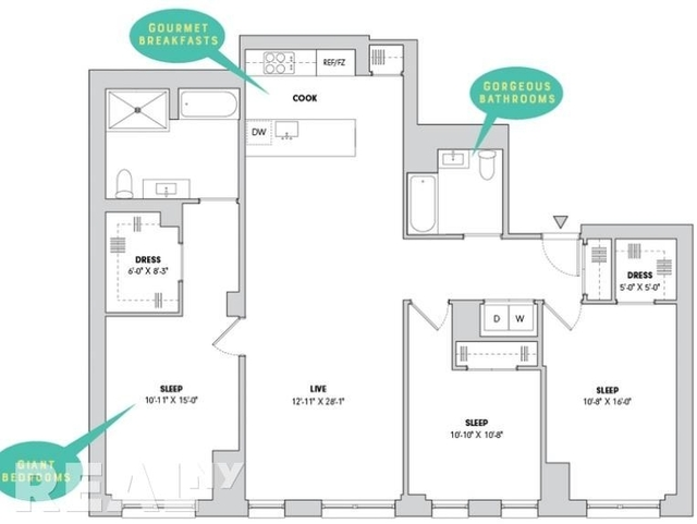 3 Bedrooms, Alphabet City Rental in NYC for $10,829 - Photo 2