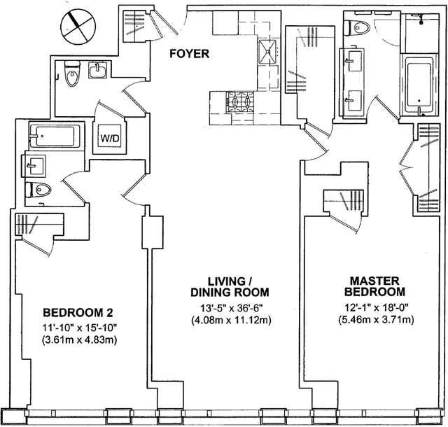 2 Bedrooms, Tribeca Rental in NYC for $9,750 - Photo 2
