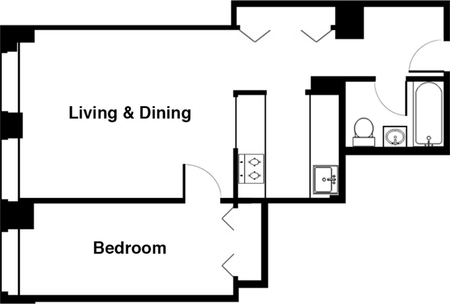 1 Bedroom, Financial District Rental in NYC for $3,314 - Photo 2