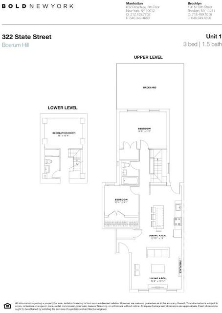 3 Bedrooms, Boerum Hill Rental in NYC for $5,400 - Photo 2