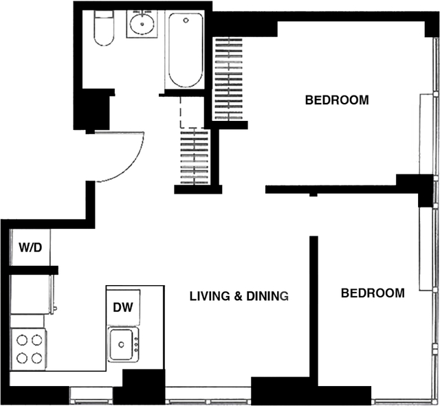 2 Bedrooms, Garment District Rental in NYC for $3,786 - Photo 2
