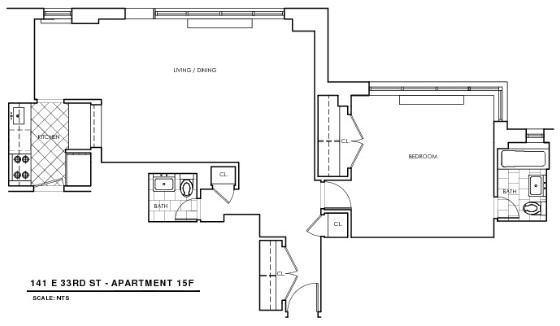 1 Bedroom, Rose Hill Rental in NYC for $4,044 - Photo 2