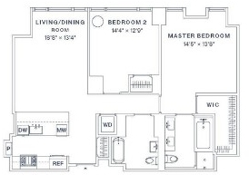 2 Bedrooms, Upper West Side Rental in NYC for $10,420 - Photo 2