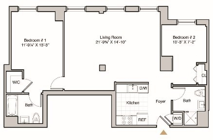 2 Bedrooms, Hunters Point Rental in NYC for $4,250 - Photo 2