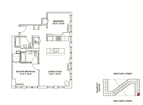 2 Bedrooms, Hell's Kitchen Rental in NYC for $5,477 - Photo 2