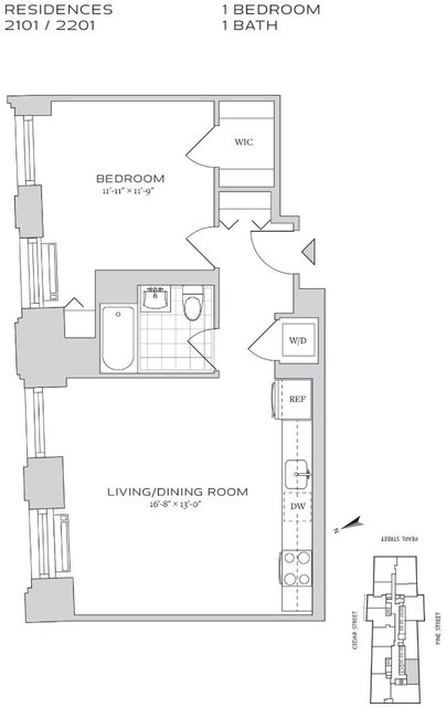 1 Bedroom, Financial District Rental in NYC for $3,974 - Photo 2