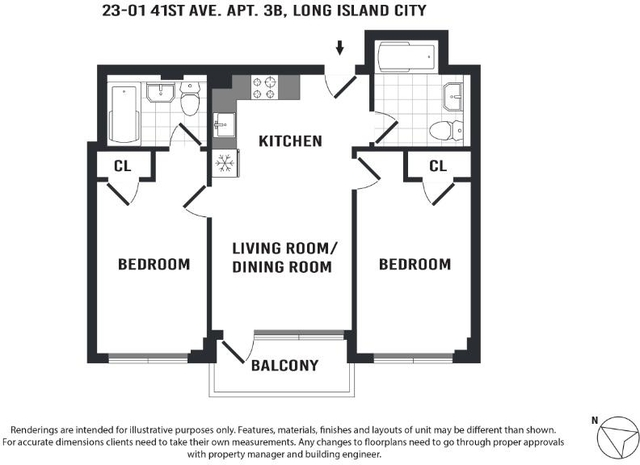 2 Bedrooms, Long Island City Rental in NYC for $3,195 - Photo 2