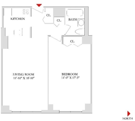 1 Bedroom, Rose Hill Rental in NYC for $3,790 - Photo 2