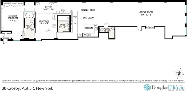 2 Bedrooms, SoHo Rental in NYC for $13,900 - Photo 2