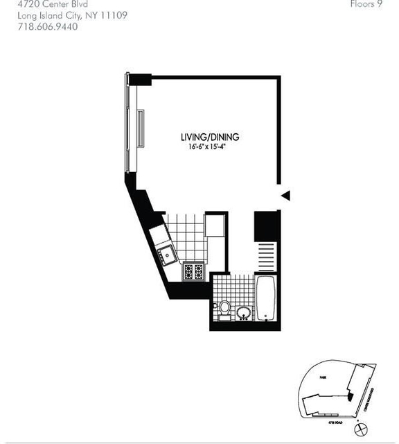 Studio, Hunters Point Rental in NYC for $2,265 - Photo 2