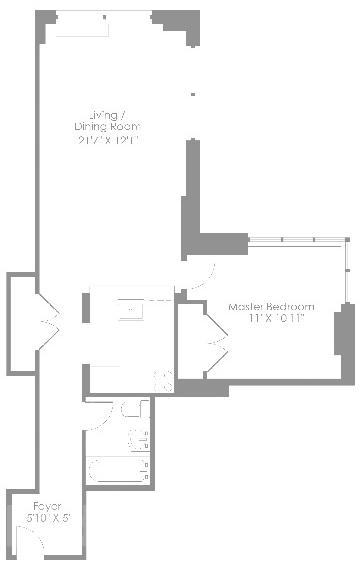 2 Bedrooms, Theater District Rental in NYC for $3,596 - Photo 2
