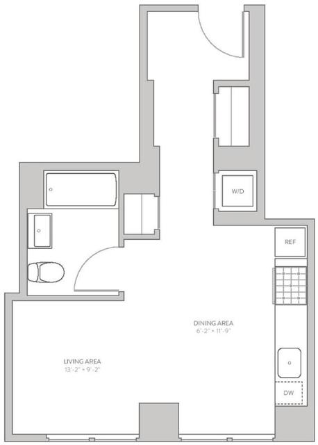 Studio, Long Island City Rental in NYC for $2,356 - Photo 2