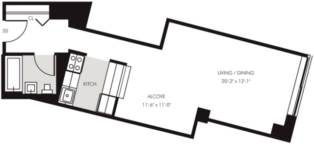 Studio, Financial District Rental in NYC for $2,598 - Photo 2