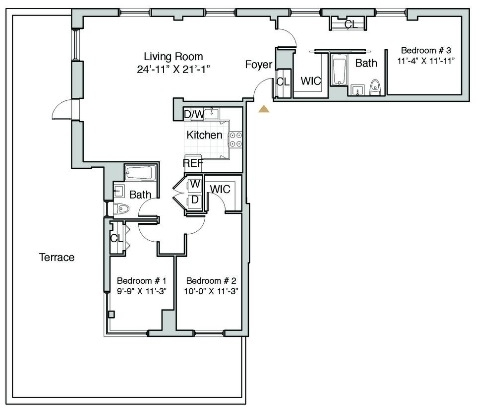3 Bedrooms, Hunters Point Rental in NYC for $6,748 - Photo 2