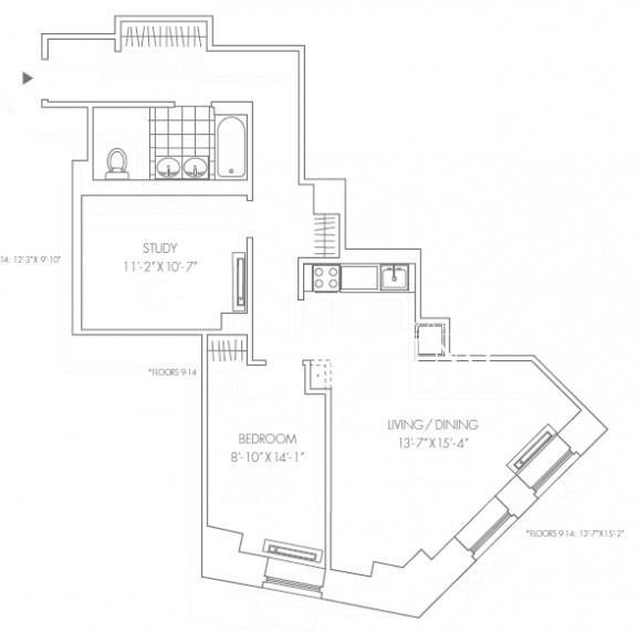 3 Bedrooms, Financial District Rental in NYC for $4,499 - Photo 2