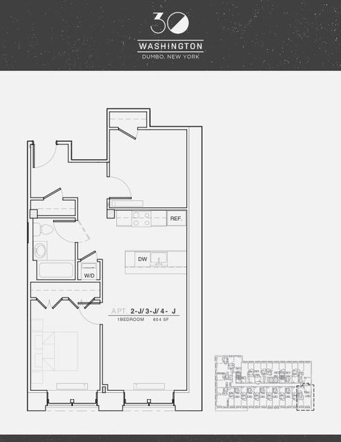 1 Bedroom, DUMBO Rental in NYC for $4,740 - Photo 1