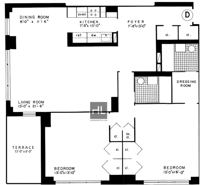 2 Bedrooms, Gramercy Park Rental in NYC for $5,695 - Photo 2