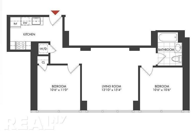 2 Bedrooms, Long Island City Rental in NYC for $3,422 - Photo 2