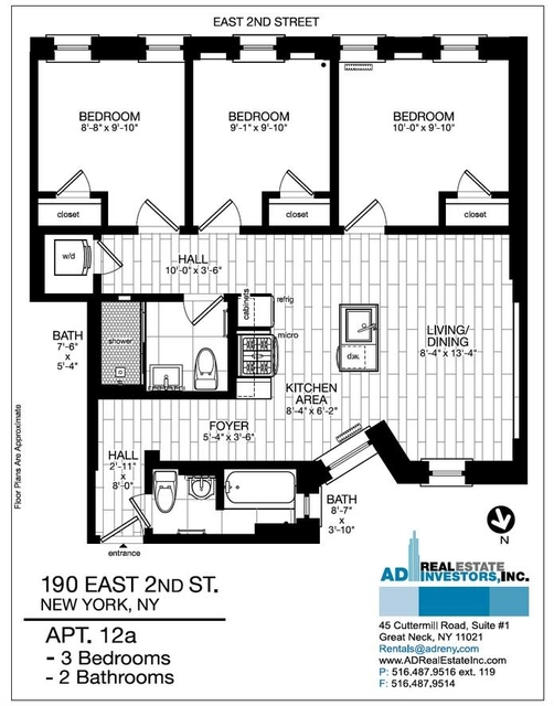 3 Bedrooms, Alphabet City Rental in NYC for $6,350 - Photo 2