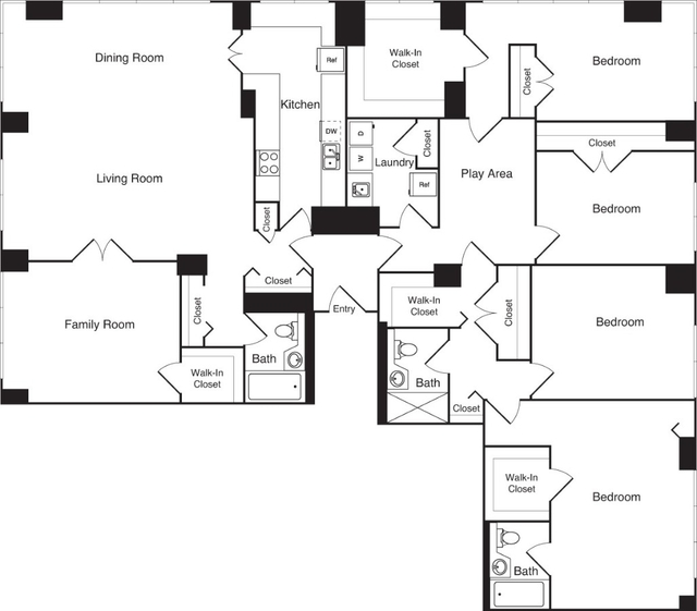 4 Bedrooms, Upper West Side Rental in NYC for $11,990 - Photo 1