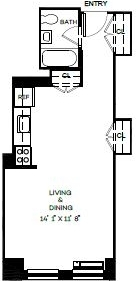 Studio, Financial District Rental in NYC for $3,245 - Photo 2