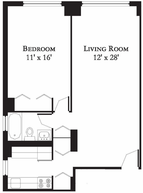 1 Bedroom, Theater District Rental in NYC for $3,395 - Photo 2