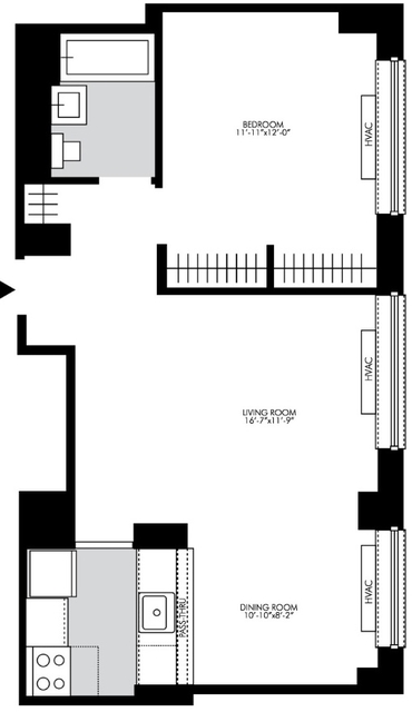 2 Bedrooms, Chelsea Rental in NYC for $3,823 - Photo 2