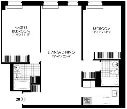 2 Bedrooms, Hell's Kitchen Rental in NYC for $4,295 - Photo 2