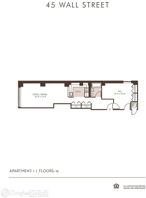 Studio, Financial District Rental in NYC for $3,846 - Photo 2