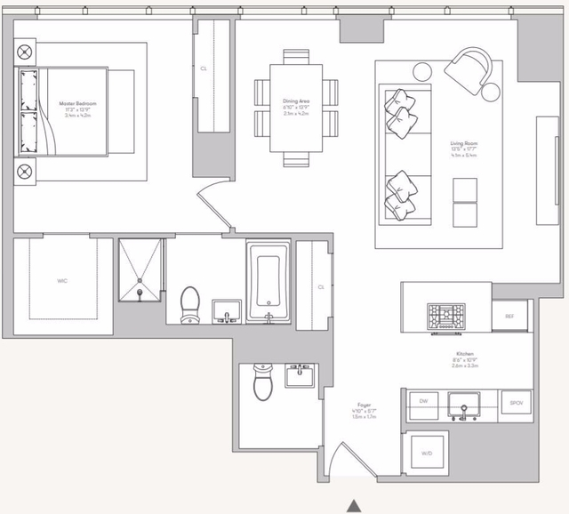 1 Bedroom, Hell's Kitchen Rental in NYC for $6,195 - Photo 2