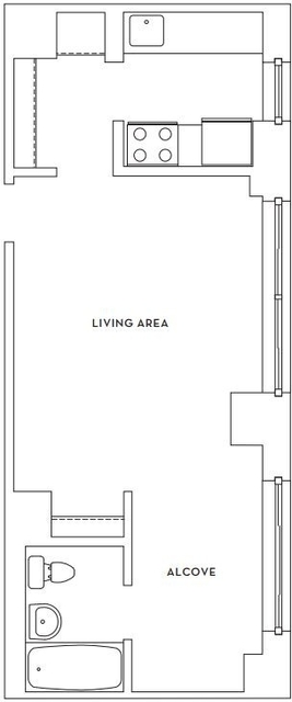 Studio, Hell's Kitchen Rental in NYC for $2,620 - Photo 2