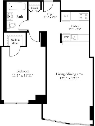 1BR at 6th Ave. - Photo 1