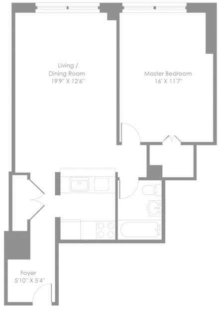1 Bedroom, Theater District Rental in NYC for $4,153 - Photo 2