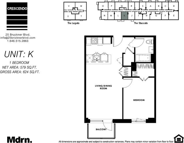 1 Bedroom, Mott Haven Rental in NYC for $2,337 - Photo 2