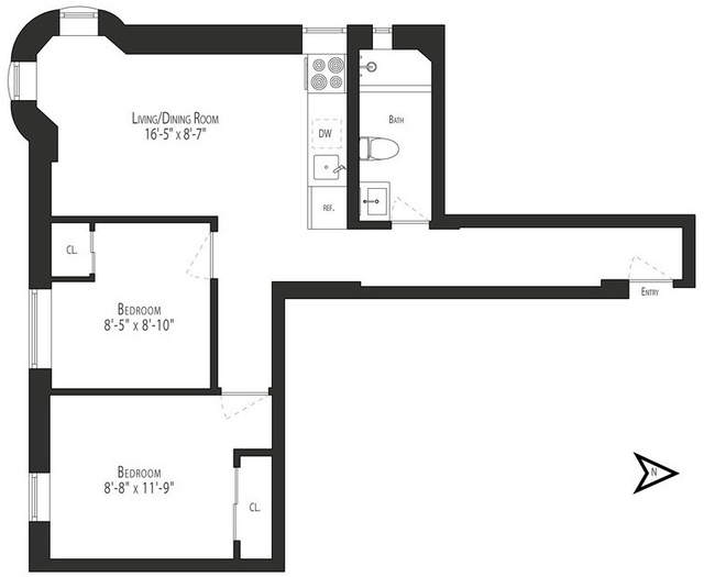 2 Bedrooms, Turtle Bay Rental in NYC for $3,384 - Photo 1