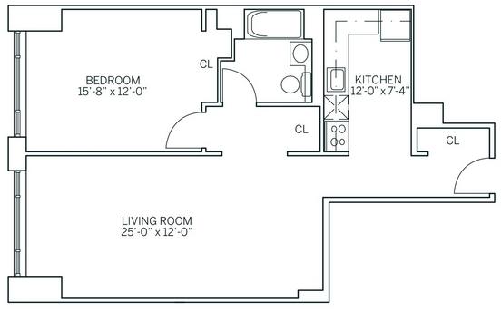 1 Bedroom, Newport Rental in NYC for $2,672 - Photo 2