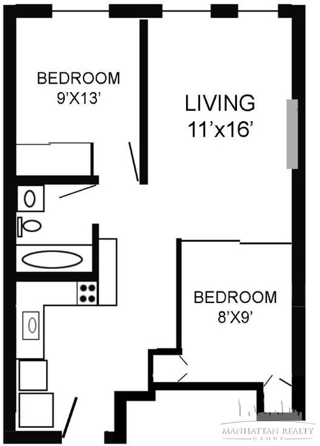 2 Bedrooms, Turtle Bay Rental in NYC for $3,500 - Photo 1