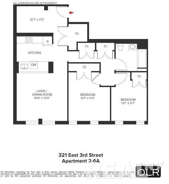 3 Bedrooms, Alphabet City Rental in NYC for $4,031 - Photo 2