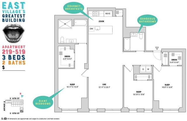 3 Bedrooms, Alphabet City Rental in NYC for $12,250 - Photo 1