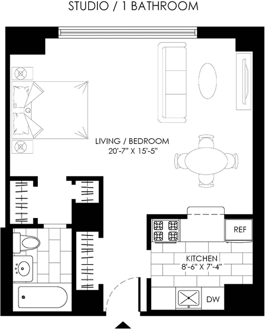 Studio, West Village Rental in NYC for $3,050 - Photo 2