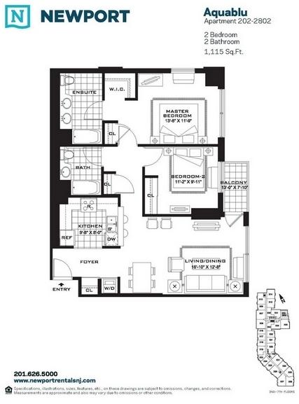 2 Bedrooms, Newport Rental in NYC for $4,050 - Photo 2