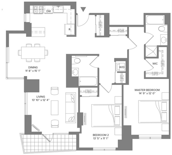 2 Bedrooms, Newport Rental in NYC for $4,240 - Photo 2