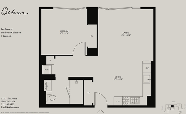 1 Bedroom, Hell's Kitchen Rental in NYC for $4,444 - Photo 2