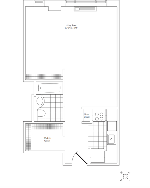 Studio, Civic Center Rental in NYC for $2,650 - Photo 2