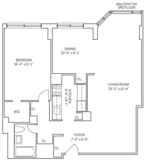 2 Bedrooms, Newport Rental in NYC for $2,760 - Photo 2